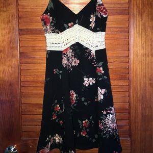 black floral lacy dress!